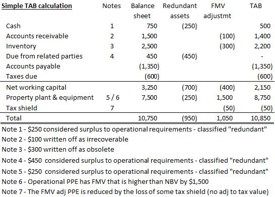 2 18 Tangible Asset Backing Tab Maarschalk Valuations Inc
